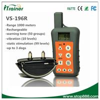 VS-196R Remote training and beeper dog shock collar dog training agility