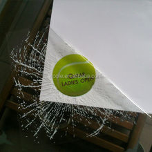 Static shatter decal window cling