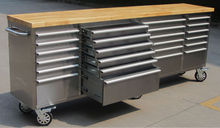 """72"""" In. Craft Room Ultra 15 Drawer Rolling Tool Trolley.In Stainless Steel"""