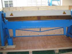 Torsion bar to top and bottom beams Manual Box and Pan Folding Machine