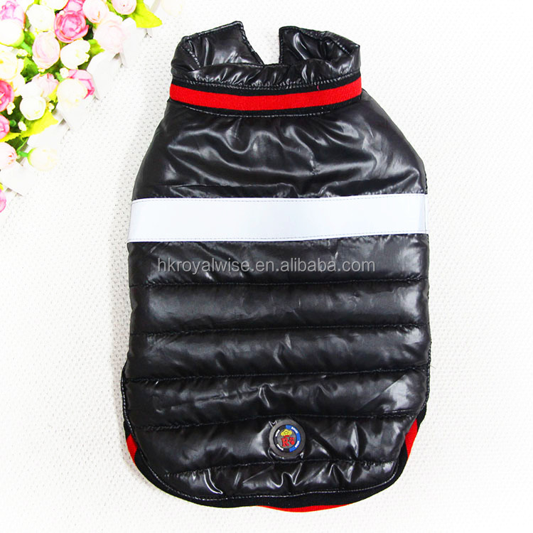 Wholesale Quality Waterproof Winter Warm Dog Coat with Reflective Stripes