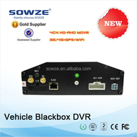 monitoring g-sensor/gps/gsm/3g/4g/wifi 4ch mobile DVR, SD/HDD/SSD MDVR with G-sensor function 2015 best selling