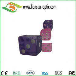 High quality plastic dices,wholesale cheaper dices with your own design ,new dice with colored dots