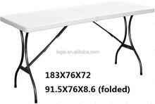6 foot Plastic Blow Molding Folding Table