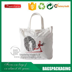 factory supplier blank organic cotton tote bags wholesale