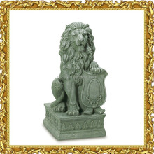 Chinese traditional outdoor garden decoration life size big stone lion statue for sale