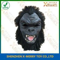 X-MERRY LATEX MASK BLACK GORILLA KING KONG MONKEY APE JUNGLE ZOO ANIMAL OVERHEAD MASK
