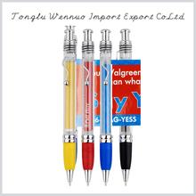 Factory direct sale novel design customized black retractable banner pens