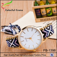 Manufacturer wholesale custom brand watch all type of wrist watch multi color strap watch