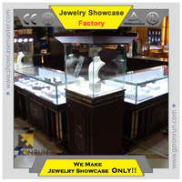 Modern custom made display showcase for jewelry store design