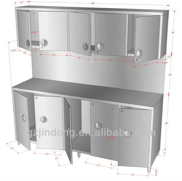 Kdc 09 stainless steel kitchen equipment cabinet buy for Stainless steel kitchen cabinet price