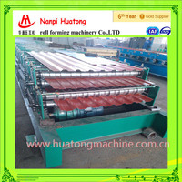 Double layer used wall panel and roofing steel making machine