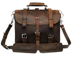 7072R China Supplier JMD Crazy Horse Leather Men's Travel Bags Briefcase