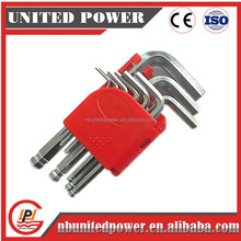 9pc ball point hex key with chromeplated