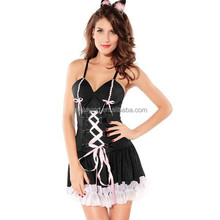 2015 Wholesale Cheapest Womens Black Devil Halloween Ladies Fancy Dress Costume