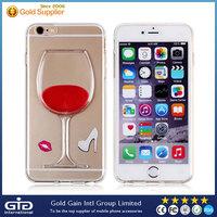 [GGIT] 3D Flowing Liquid Wine Pattern Case for iPhone 6 TPU Kickstand Case