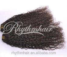 Rhythmhair wholesale brazilian human hair extension 100 human hair hair extension kinky twist