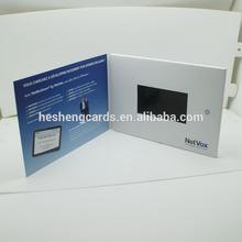 """De calidad superior 4.3"""" personalizados lcd video folleto tarjeta de"""