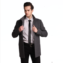 men fashion wholesale grey 80% wool / 15% polyester wool jackets for custom