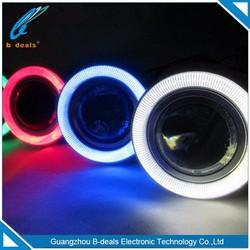 2.5 inch universal led super lamp fog angel eyes lighting led projector lens with cob halo rings evil eyes
