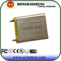 2014 hot sale 014049 rechargeable lithium battery 3.7v lipo battery 130mAh