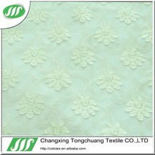 polyester embroidered mesh fabric for dress and curtain X20