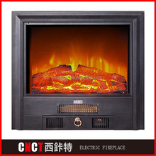 OEM metal fireplace with pebble fuel