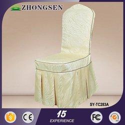 Wedding white lycra universal silver metallic wedding banquet chair cover