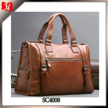 mens leather travel bag briefcase design royal feeling leather luggage bags