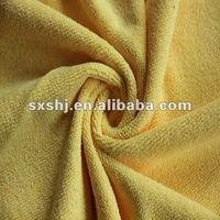 100% Polyester Yellow Terry Fleece Fabric