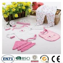 2015 New 3pcs/set Wholesale high quality Cotton wholesale newborn caters baby cloths