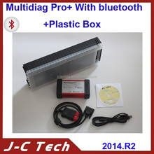 Professional TCS cdp pro V2014.2 Version Bluetooth Multidiag Pro+ hot sale Muti-diag pro+ plastic box in stock DHL FREE SHIPPING
