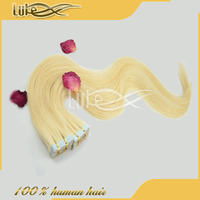Factory Outlet Price Brazilian Human Hair Tape Straight Hair Extension