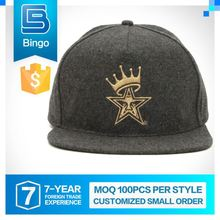Excellent Quality Small Order Custom 6 Panel Snapback Cap