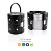 Trade assurance 2015 Lady Round tube cosmetic box with removable tray with diamond for decoration factory sale directly