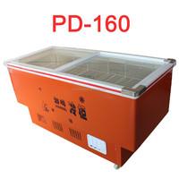 PD-160 glass doors sliding door refrigerator display freezer single temperature
