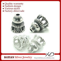 XD KM003 925 Sterling Silver Tower Shape Spacer Thai Silver Fittings