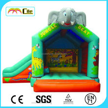 CILE PVC Fun Jungle Air Castle House Combo Inflatables for Kids Jumping Game