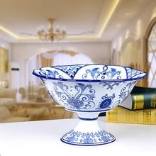 Jingdezhen 12 inches blue & white porcelain compote