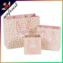 pink christmas gift paper bag,cheap wholesale paper gift bag,fancy strong kraft paper bag