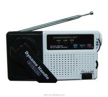 Alarm LED light rechargeable battery FM/AM Radio dynamo