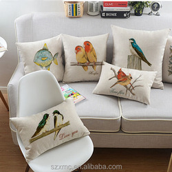 China Supplier square/bolster Linen Cotton Home Decor 50x50cm Cushion Pillow Cover