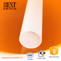Heat resistant quartz glass tube