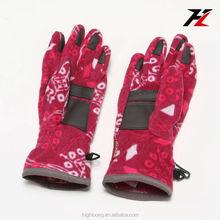Cute Touch Screen Winter Bike Gloves, Thick Fleece Lined