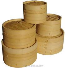 "Bamboo Food Steamer Set 10"" 3 Piece Set Fish Meat Steamer"