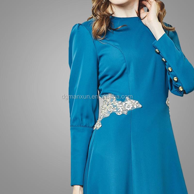 2017 Fashion muslim evening dresses lace applique islamic abayas modest turkey women dress (5).jpg