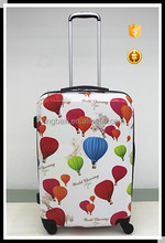 hydrogen balloon print ABS/PC luggage beautiful color for multi usage