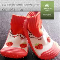 socks XC 701 rubber sole organic cotton baby socks shoes