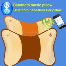 NFC Bluetooth V4.0 handsfree car pillow with massage