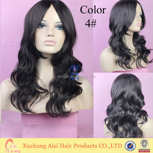 wg004 heat resistant synthetic hair wigs new popular style female elegant wigs wavy wholesale Kanekalon wigs/ synthetic hair